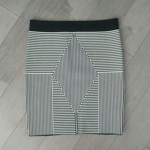 Bebe geometric pattern bodycon skirt